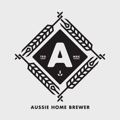 Aussie Home Brewer Logo #beer #badge #brew #logo #brewer #wheat