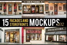 15 Facades Mockup PSD