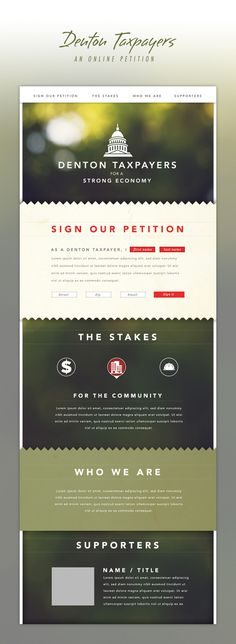 Alex Jefferson #web design #petition #layout