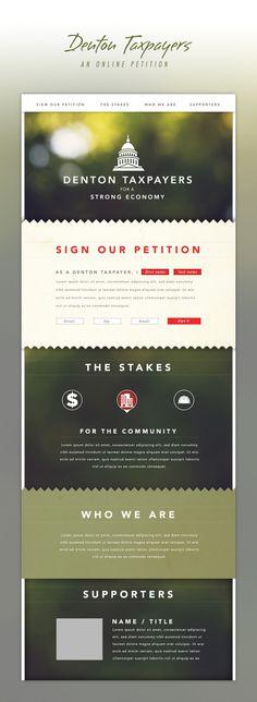 Alex Jefferson #petition #design #web #layout
