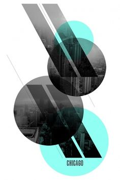 Chicago {Poster Series} - Portfolio #poster #black and white #chicago #circles #layers #angles