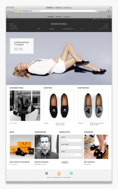 Romero+McPaul UX/UI on Behance #website #shoes #web