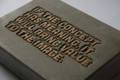 Concrete quote #quote #wood #concrete #lasercut