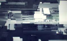 Wonderwall on the Behance Network #monochrome #abstract #art #digital