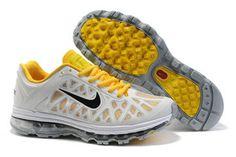 Nike Air Max 2011 Platinum Anthracite Lemon Frost White-Mens #shoes
