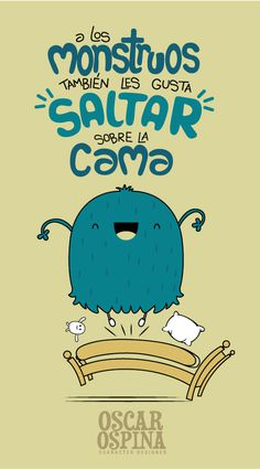 LMT-SALTAN-SOBRE-LA-CAMA #inspiration #monster #illustration #character