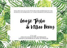 Palmy - Engagement Invitations #paperlust #weddinginvitation #weddinginspiration #weddingstationery #engagement #engagementinvitation #card