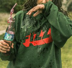 Handmade Silkscreen Sweatshirt #lettering #from #drink #the #sodafromthehut #liquid #fizz #hut #soda #party