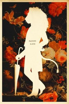 Design Inspiration / Silhouette Masterpiece Theatre: Dandy-Lion #illustration #lion #flowers