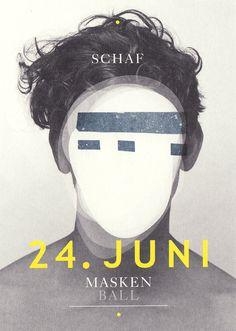 Maskenball #masken #schwenk #ball #schaf #poster #vincent