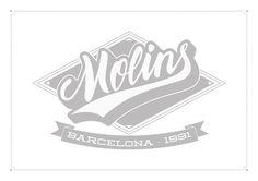 Personal branding: Adra Molins #calligraphy #vector #lettering #script #branding #varisty #retro #brush #baseball #logo #swoosh #grey