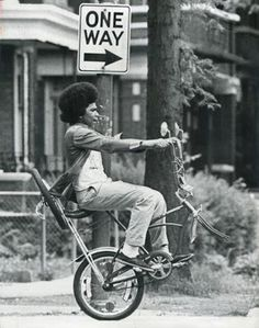 Bike Lane Diary #sign #photo #ride #one #way #wheel #crazy #biking #afro