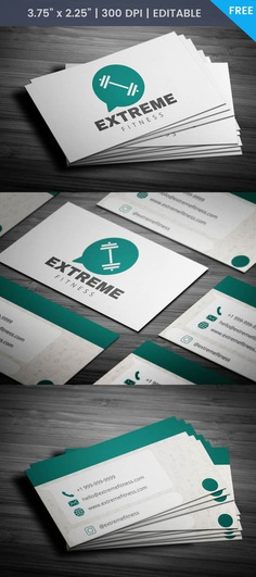 Free Whatsapp Themed Fitness Business Card Template