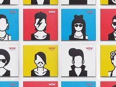 WOW. Karaoke school identity #identity #illustration #character #karaoke