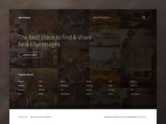 Albumarium Homepage #feature #splash #background #web