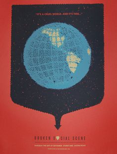 GigPosters.com - Broken Social Scene - Do Make Say Think #gigposter #screenprint