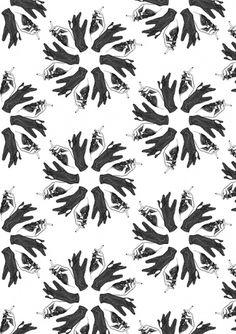Kitzekatze #pattern #white #and #cigarette #black #hands