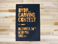 Byop #print #graphic design #illustration #typography #invitation #halloween