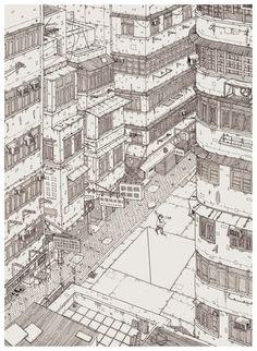 brainrental #city #illustration #line #detail