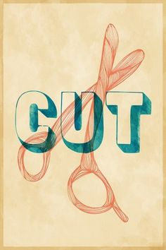 SIT-CUT #cut #illustration #scissor