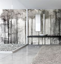 Wall Covering Suitable to Bathrooms - InteriorZine #bath #interior #decor