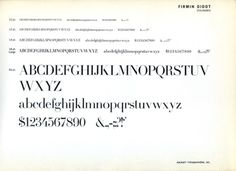 Daily Type Specimen | Firmin Didot was a 1927 release by Ludwig & Mayer. #type #specimen #typography