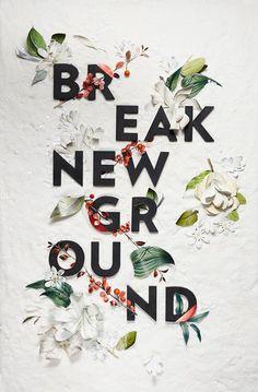 Happy New Year. Break New Ground, MELISSA DECKERT. #happy new year #new year #2015 #typography #melissa deckert