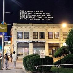 """""""The Last Billboard"""" A 36-foot-long billboard located at the corner of Highland and Baum in Pittsburgh, Pennsylvania. Every month, a different indiv"""