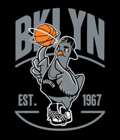 Various Graphics on Behance #bklyn #pigeon #basketball