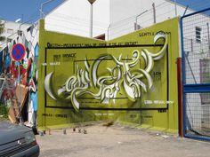 Odeith full green classic Anamorphic 3D Graffiti Letters Lisboa Portugal