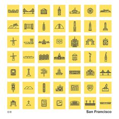 Chris Rooney - San Francisco architecture and landmark icons #icon #illustration #symbol #pictogram