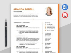 Free Timeline Word Resume Template with Elegant and Clean Design