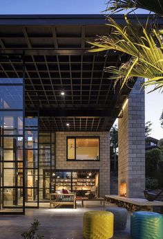 Double Height Living Spaces Add Drama to This Industrial-Style House 1