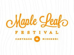 Dribbble - Maple Leaf Round 2 by Matthew Spiel #mark #badge #orange #logo #typography