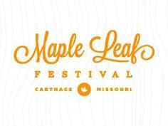 Dribbble - Maple Leaf Round 2 by Matthew Spiel #mark #badge #orange #logo #typography