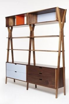 Dare Studio :: Dixon Modular Storage Unit #oak #wood #furniture #walnut