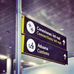 El Dorado International Airport #direction #leitsystem #travel #icons