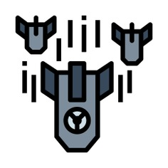 See more icon inspiration related to war, nuclear, toxic, alert, weapons, warning and power on Flaticon.