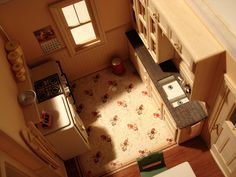 Bunglow - Kitchen | Flickr - Photo Sharing! #interior #miniature #diorama #art