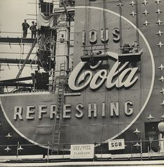 Creative Review - The making of a Coca-Cola neon sign, 1954 #script #sign #coca #logo #cola