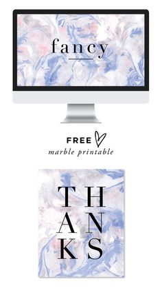 MARBLEblue #blue #marble #card #thank you #computer #desktop #screensaver