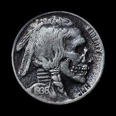 Skull Nickels | Colossal #coin #skull #quarter