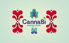 Canna Bì Energy Drink on Behance #pattern #packaging #drink #graphic #colours #energy