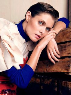 Malgosia Bela by Victor Demarchelier for L'Express Styles #model #girl #photography #portrait #fashion