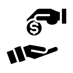See more icon inspiration related to Sponsor, business and finance, hands and gestures, dollar symbol, solution, hands, coin, business and money on Flaticon.