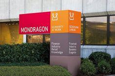 Mondragon - Saffron Brand Consultants #identity #wayfinding