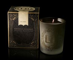 Modern Alchemy | Lovely Package #embossing #packaging #clean #glass #candle #elegant #etching