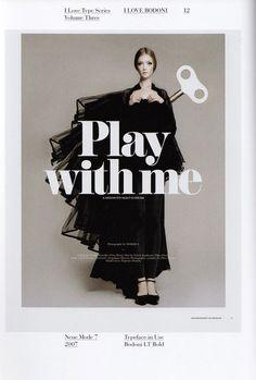 magazine typofiles typography #cover #bodoni #poster #typography