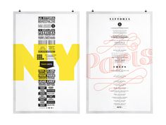 Paris New York 2011 #poster #color #branding