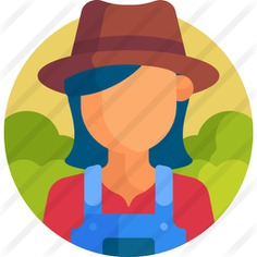 See more icon inspiration related to woman, professions and jobs, farming and gardening, gardener, profession, farmer, occupation, job, user, farm, hat, avatar and profile on Flaticon.